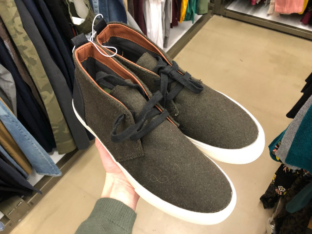 olive green high top mens shoes at old navy
