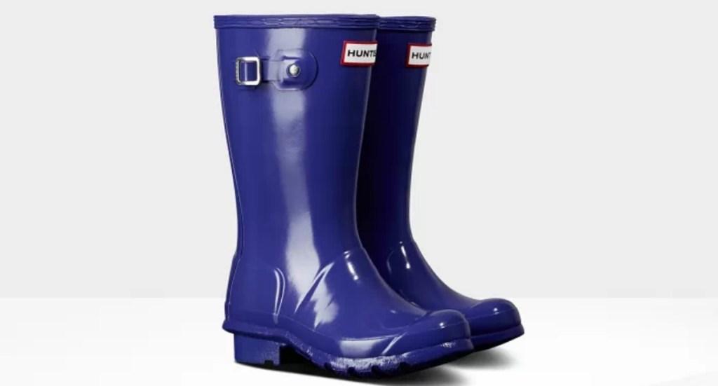 kids purple rain boots