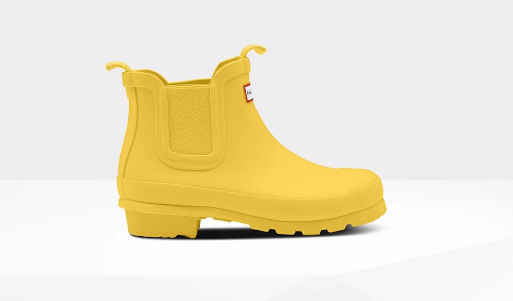 Original Hunter Chelsea Kids Boots in yellow