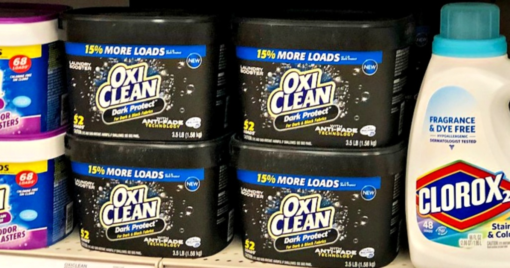 OxiClean Dark Protect on shelf at store