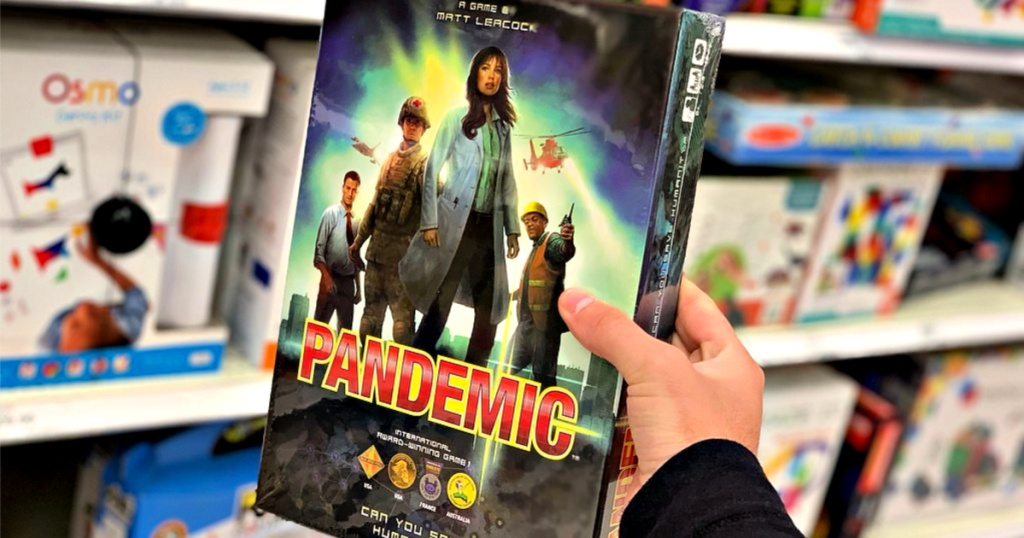 Pandemic board game in hand at store