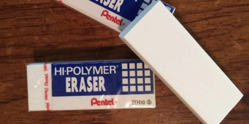 Pentel Hi-Polymer Latex Free Eraser 3-Pack Only 10¢ at Staples (Regularly $2.59)