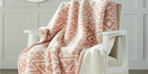 Better Homes & Gardens Sherpa Throws & Jumbo Throw Pillows as Low as $11 at Walmart