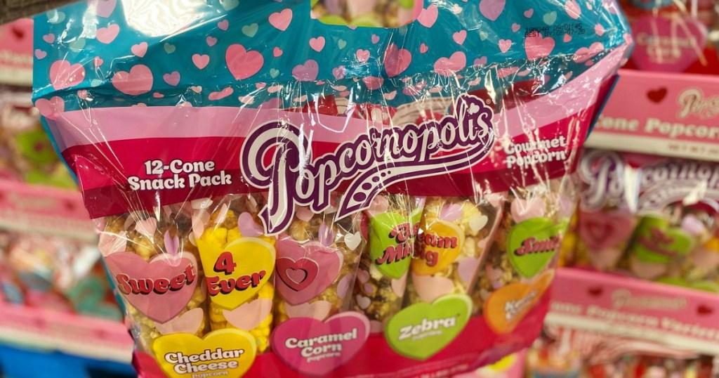 Popcornopolis Valentine Treats bag