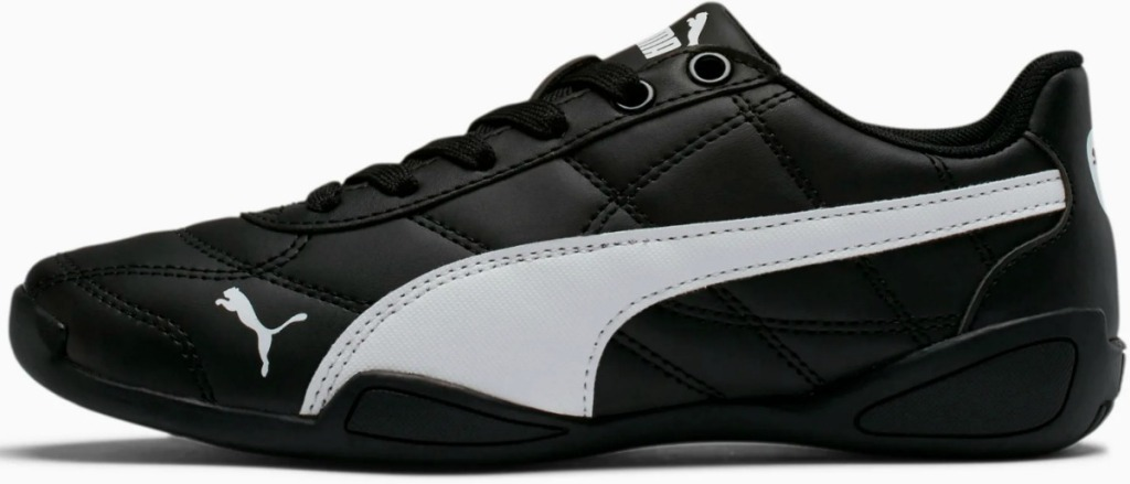 Black and white kids tennis shoe