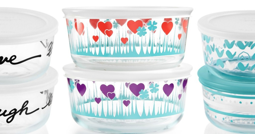 Pyrex decorated storage sets