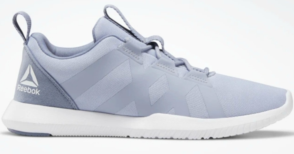 Women's running shoes in light blue/gray color