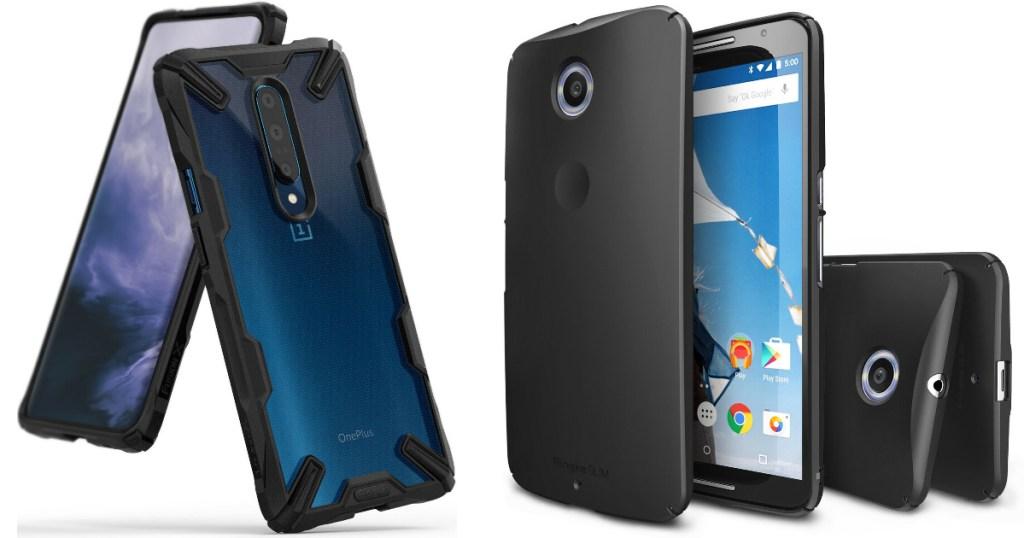 different black google phone cases