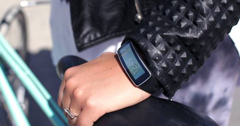 Woman wearing Samsung Galaxy Fit