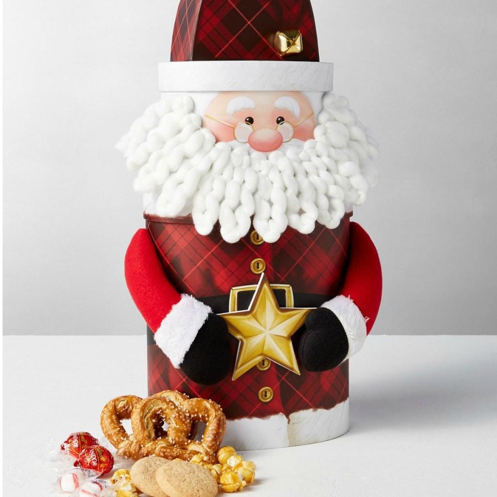 Santa Tin Chocolates and Snacks