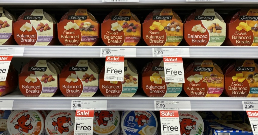 rows of Sargento Balanced Breaks in-store
