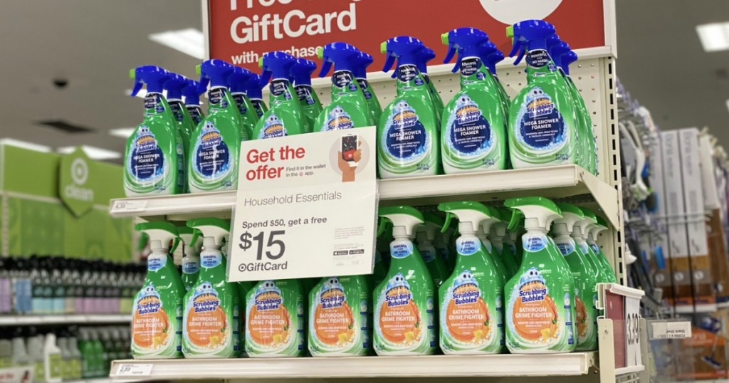 Scrubbing Bubbles on display at Target