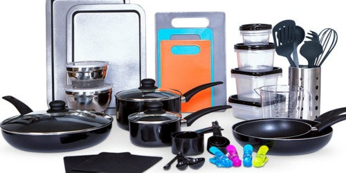 64-Piece Cookware & Accessories Set Just $44.99 Shipped on Macy's (Regularly $160)