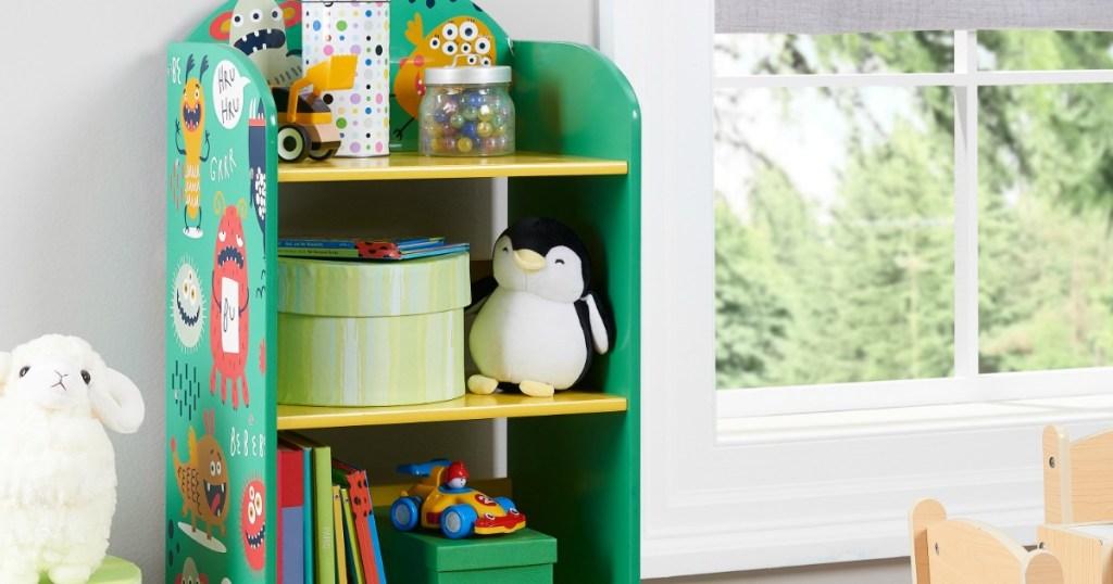 Senda Kids Bookshelf in room next to window