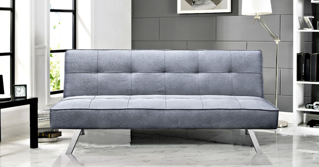 Gray Serta Chelsea 3-Way Multi-function Sofa in living room