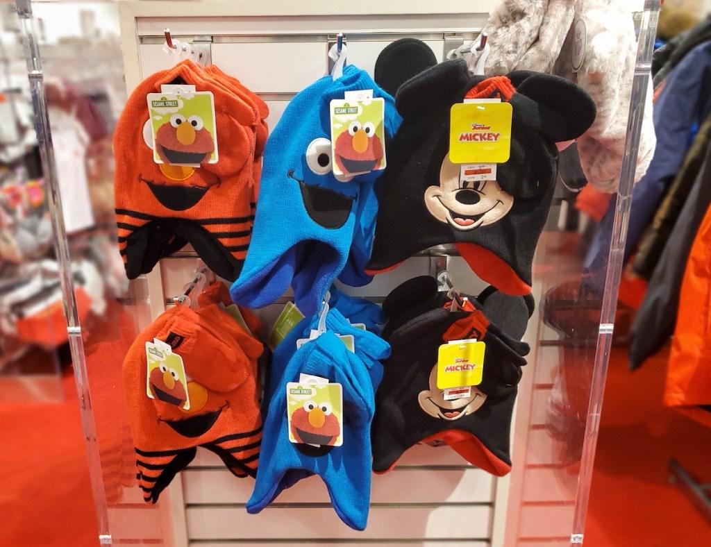 Sesame Street and Disney Hats at Macy's