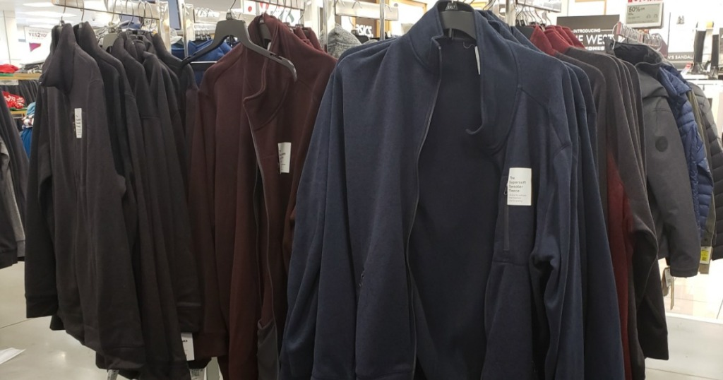 Sonoma Goods For Life Supersoft Fleece on hangers at Kohl's