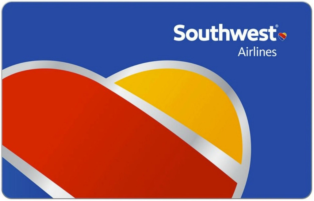A Southwest Airlines Gift Card