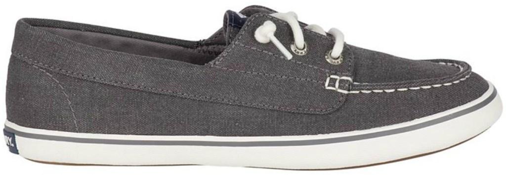 Women's Loafer style shoe in dark gray