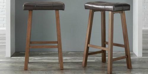 TWO Wooden Saddle Bar Stools Just $59 Shipped at Home Depot (Regularly $99)