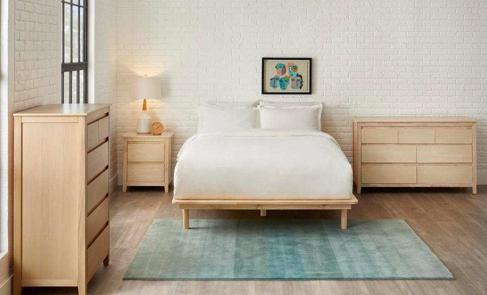 Stylewell Banwick Bed in bedroom with dressers and nightstand