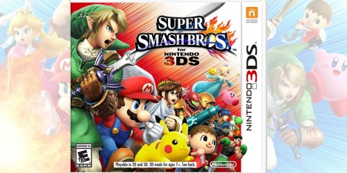 THREE Nintendo 3DS Video Games Only $24 at GameStop | Super Smash Bros. & More