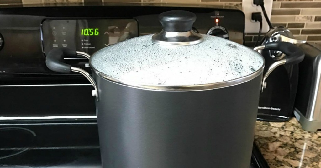 stock pot on the stove