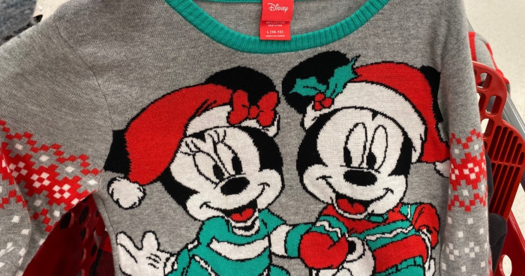 Target Minnie & Mickey Mouse Holiday Sweater