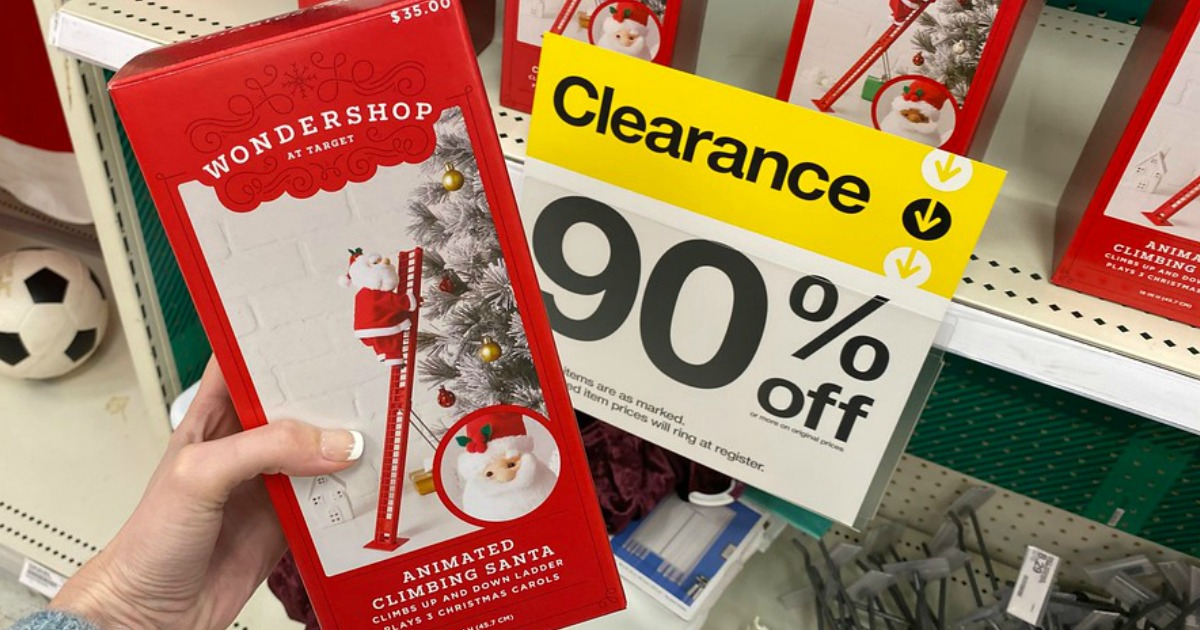 holiday clearance items at target