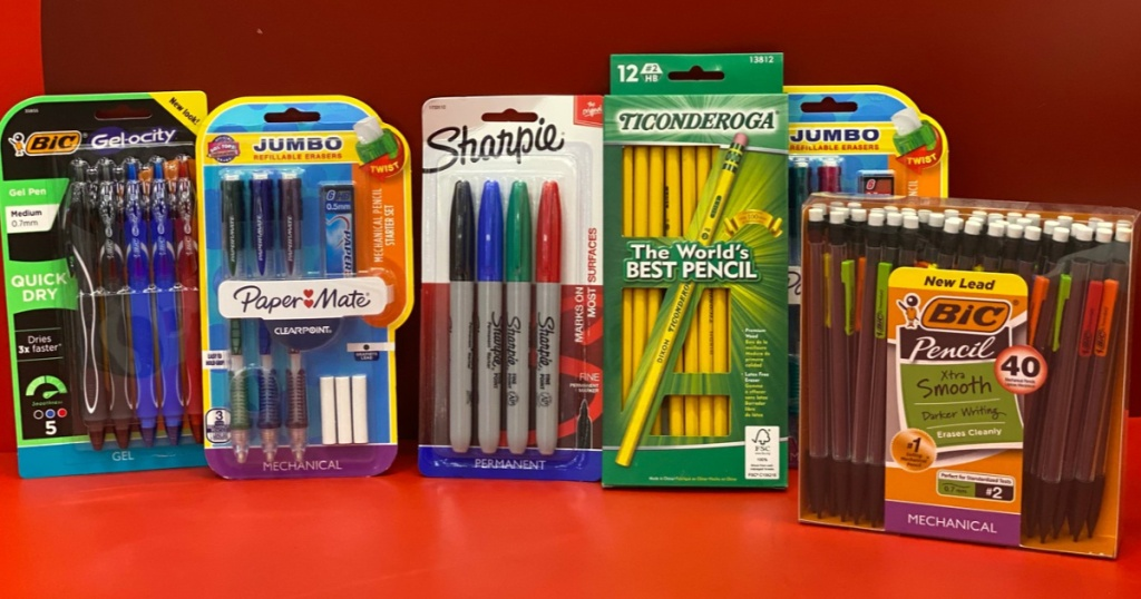 Target School Supplies Sharpie, BIC, Ticonderoga