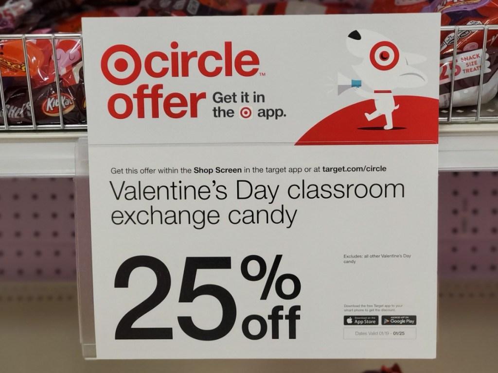 Target Valentine Candy Sale Sign at Target