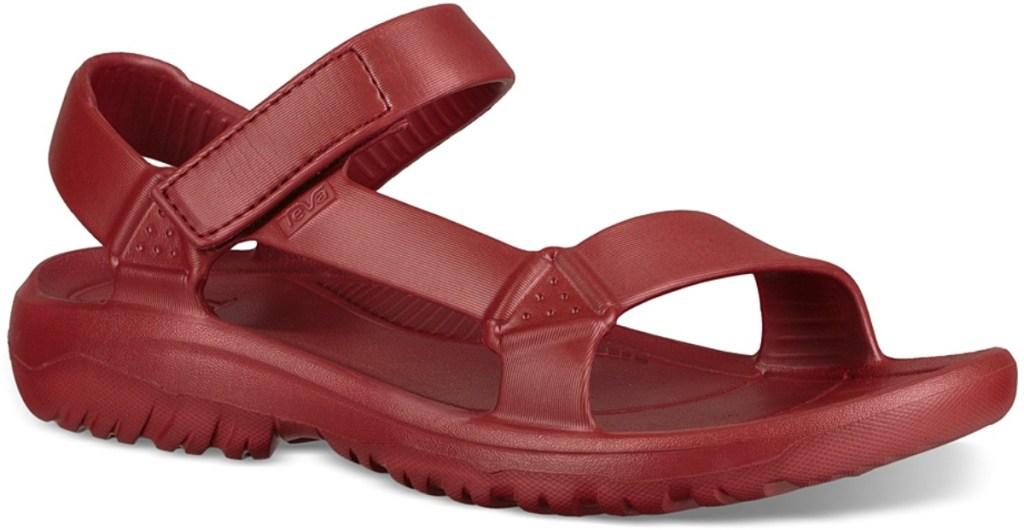 red single women's sandal