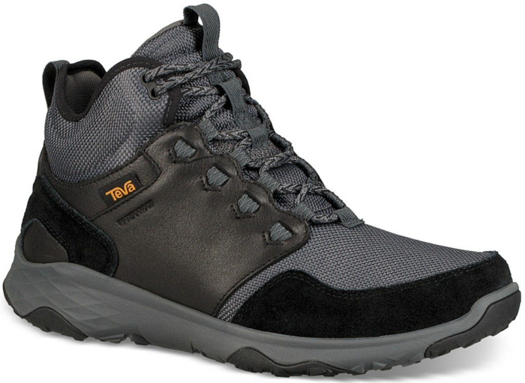 Men's Waterproof Black leather boot
