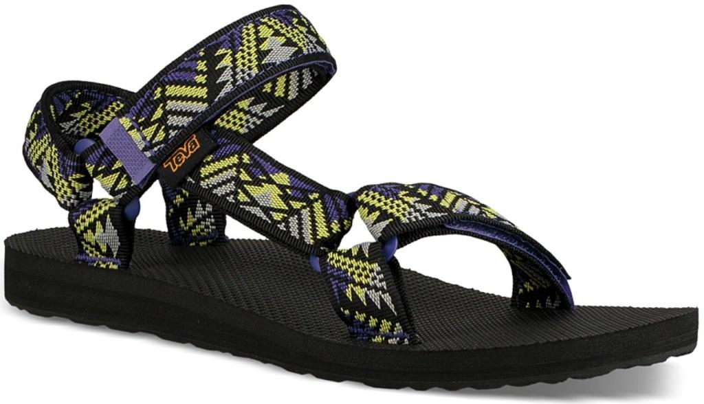 Geometric print women's strappy sandal