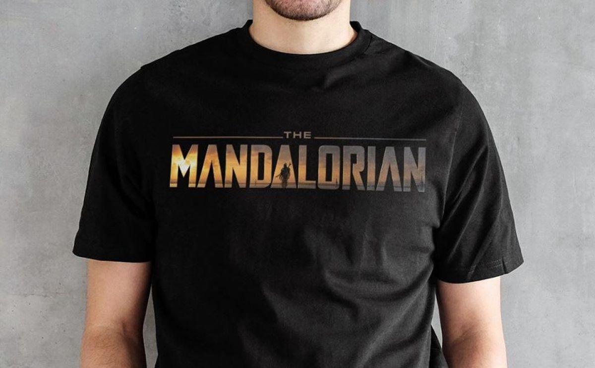 man wearing a The Mandalorian Mens Tee