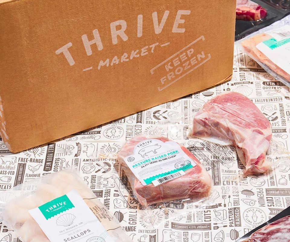 Thrive Market box by frozen meats