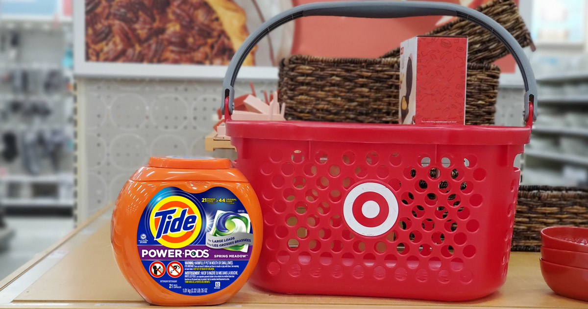 tide power pods with target shopping basket