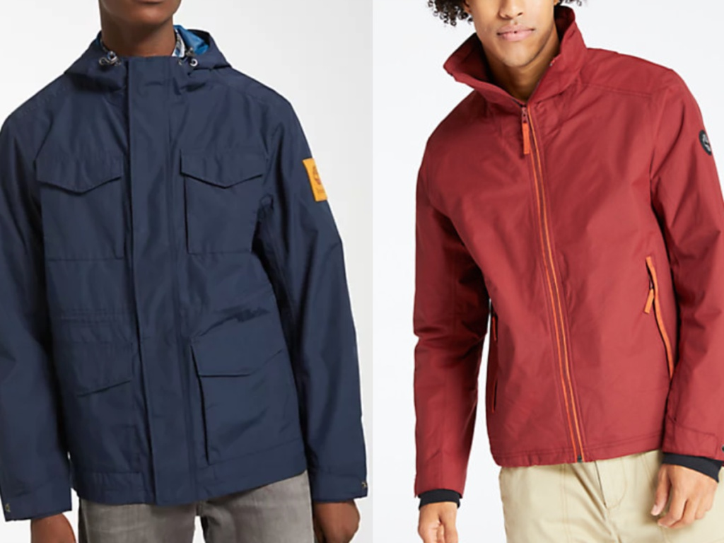 Men's wearing Timberland outerwear