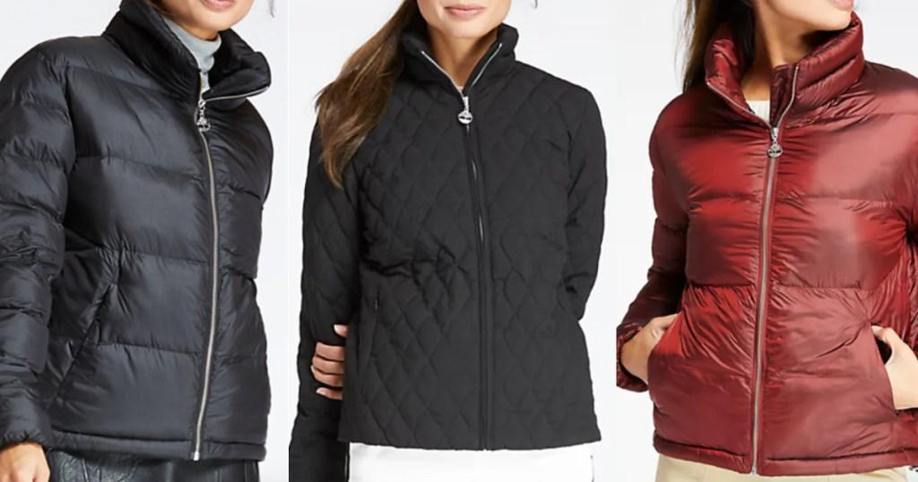 Women wearing Timberland Winter Jackets