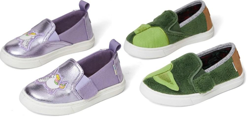 Tiny Toms Unicorn or Yoda Shoes