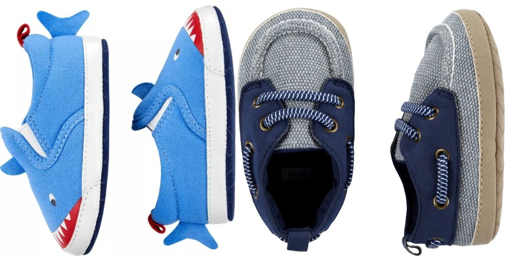 Two styles of baby boys shoes