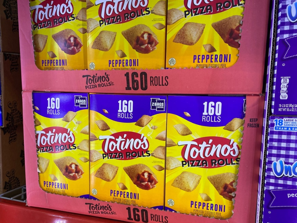tostinos pizza rolls on display in store