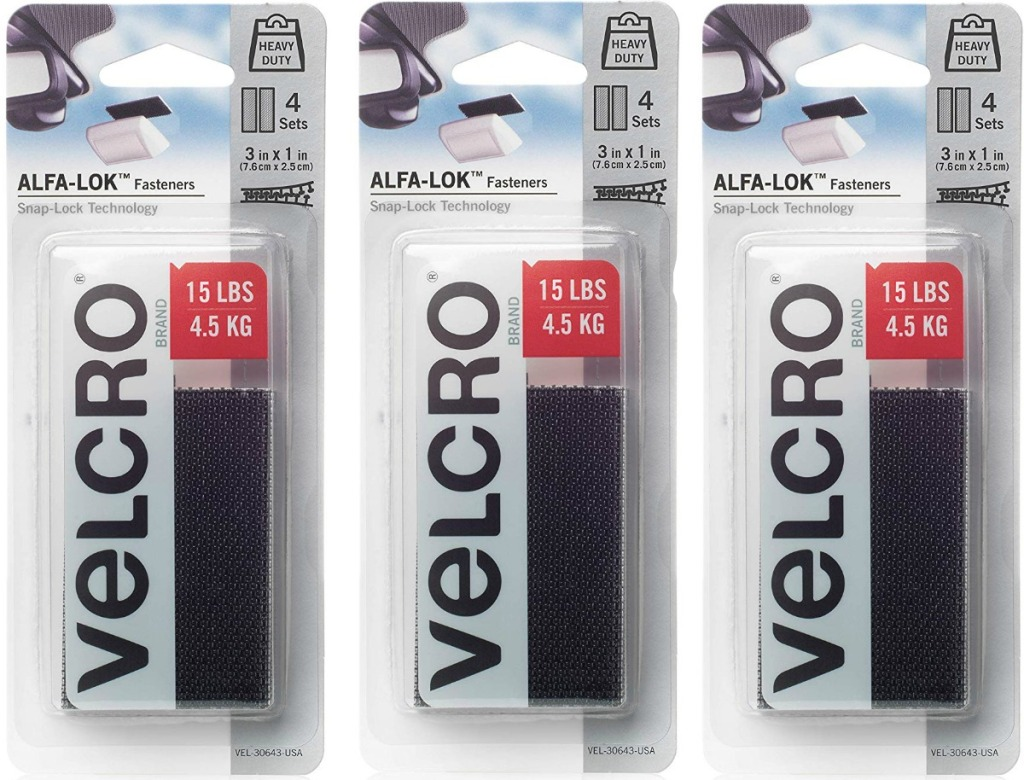Three packages of VELCRO strips