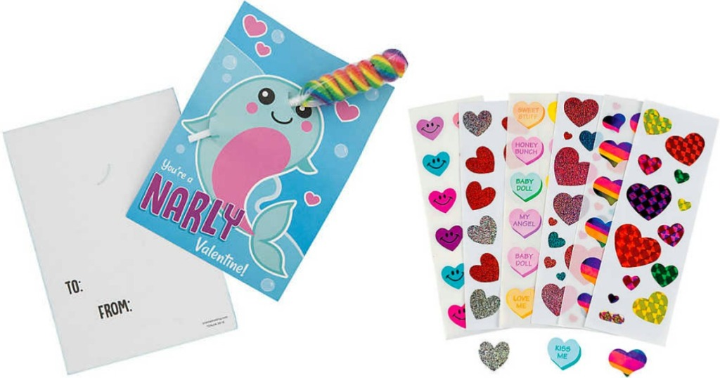 Valentine Holders and Stickers