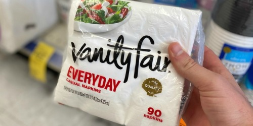 Vanity Fair 90-Count Napkins Just 99¢ Each at Walgreens (Regularly $3)