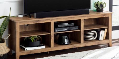 Barnwood Entertainment Center Just $145.75 Delivered at Home Depot (Regularly $265)