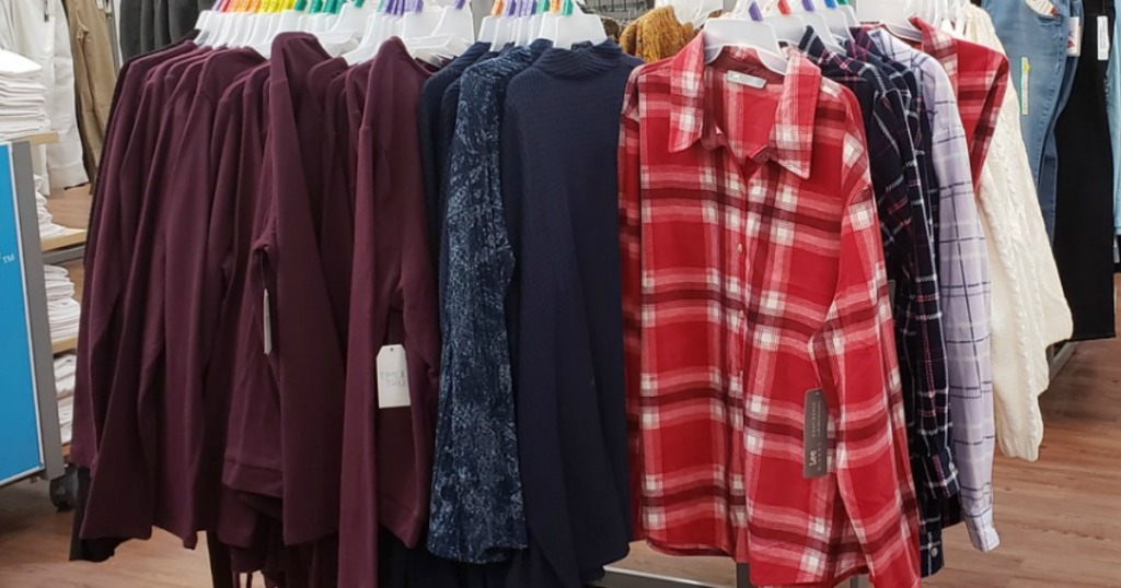 Walmart Clearance for Women on racks at store