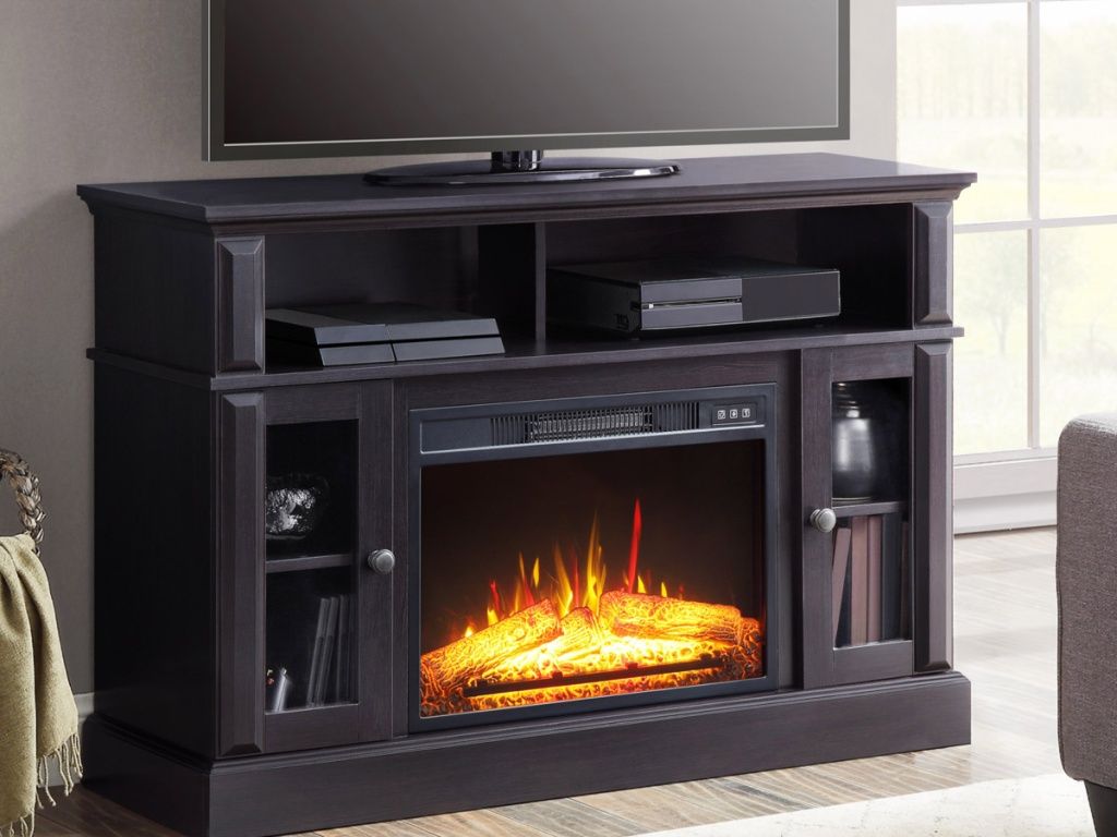 Up To 40 Off Fireplace Media Consoles At Walmart Hip2save