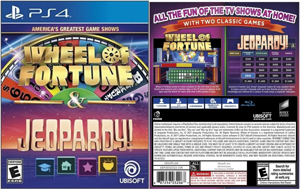 Wheel Of Fortune Jeopardy Playstation 4 Game Only 9 99 At Best Buy Regularly 40