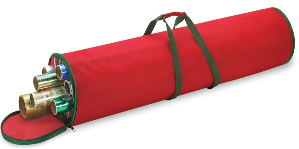 Large red and green wrapping paper storing bag